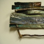 """River"" (<a href='/inquire.php?gallery=steel&file=river_16x16.jpg&caption=River'>Inquire about this piece</a>)<br />info: 16x16 painted forged steel"